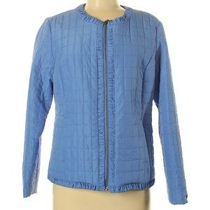Chico's Size 1 Quilted Blue Jacket NWT